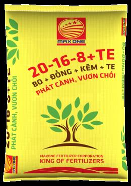 NPK 20-16-8+TE (BAO VÀNG)