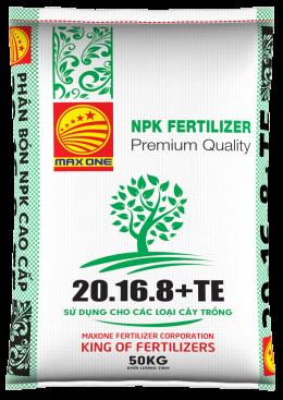 NPK 20-16-8+TE (BAO TRẮNG)